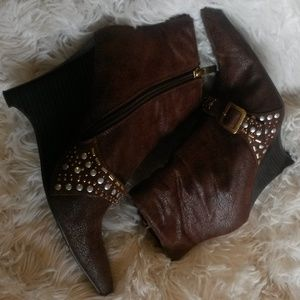 Ann Michelle Boots Ankle Pointed Toes